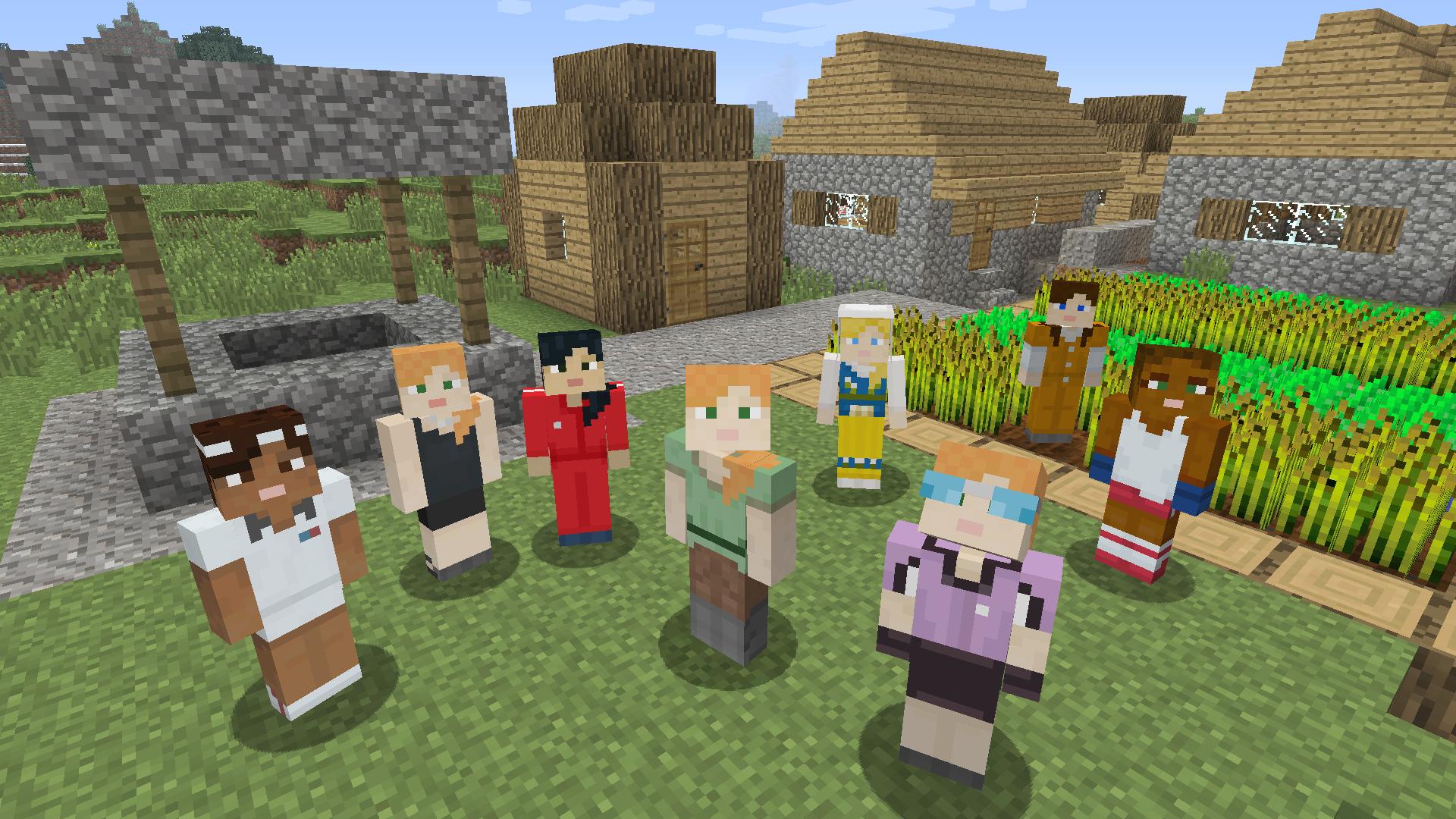 Weibliche MinecraftSkins Ab Mittwoch Kostenlos Pixelburg - Minecraft spieler skin suchen